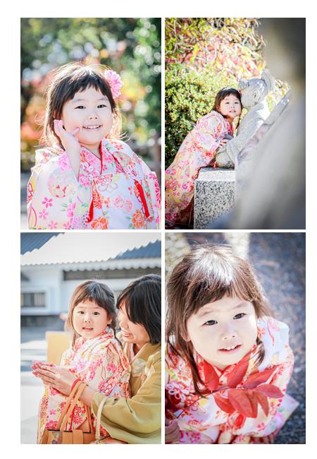 岡崎城公園で3歳の七五三
