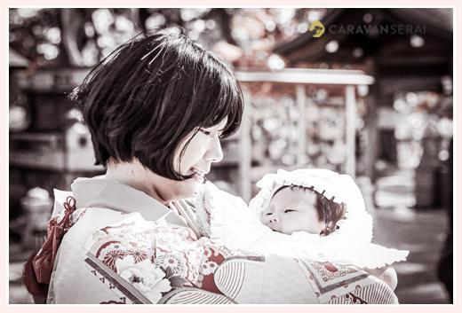 お宮参り 赤ちゃんとママ