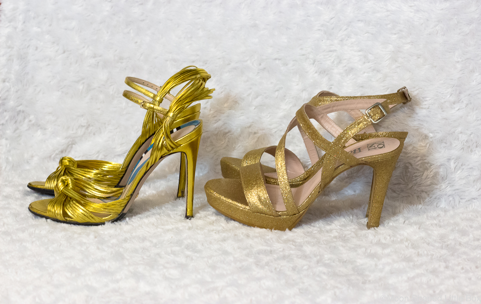 Kultaiset-korkokengat-metallic-gold-glitter