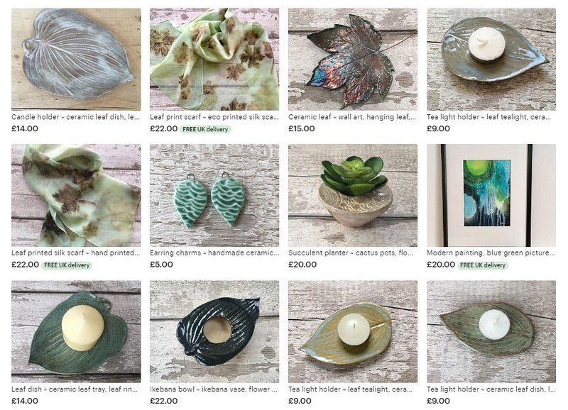 Leaf ceramics and art for the home