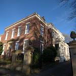 Old corner house near Avenham Park, Preston