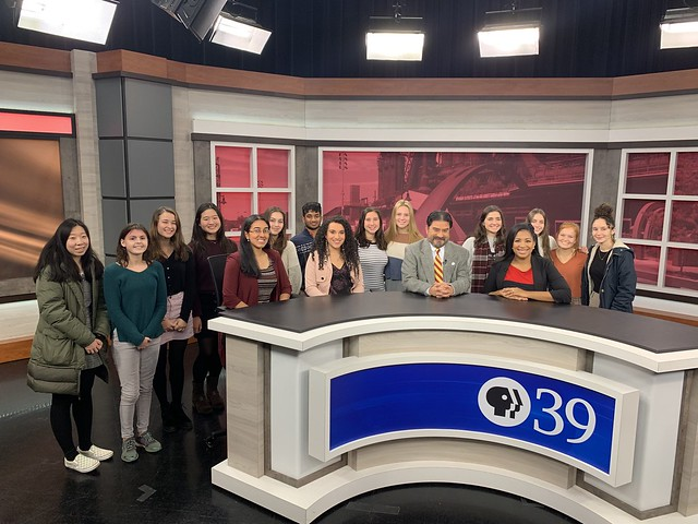 """""""Latinos in the Lehigh Valley"""" Course Visits PBS39"""