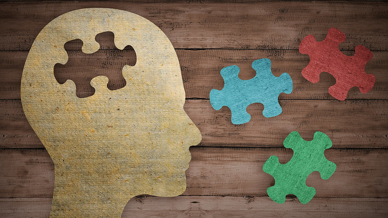 Image of a human head with puzzle pieces