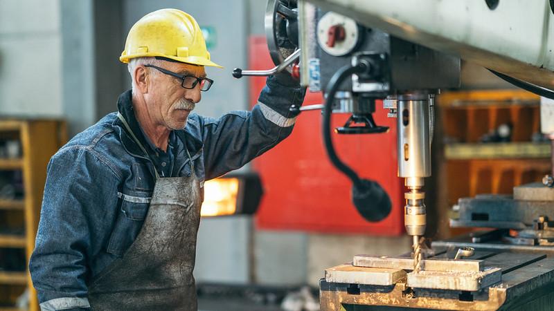 Older man at work