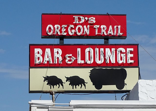 WY, Casper-U.S. 20 D's Oregon Trail Bar Neon Sign