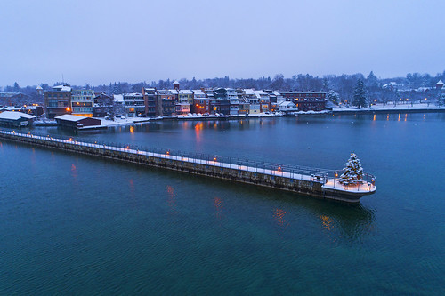tbt thursday christmas holiday beautiful nature landscape village life peaceful tree skaneateles pier amazing dickens aerial drone drones dji 2019 snow snowy snowstorm idyllic winterwonderland winterscape