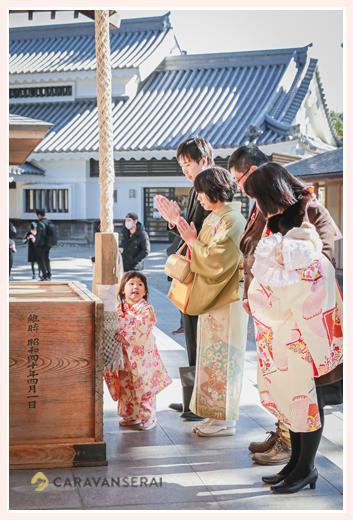 龍城神社で七五三とお宮参り 礼拝