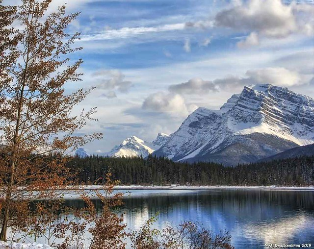Lower Waterfowl Lake with Reflections of Canadian Rocky Mountains