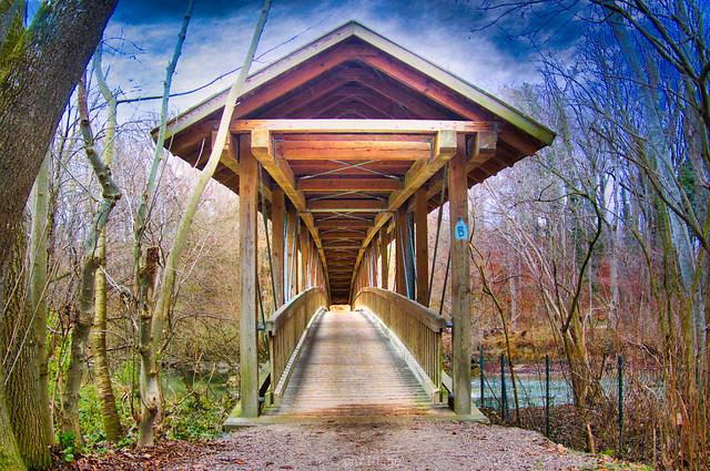 Holzbrücke bei Grafrath