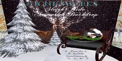 Sleigh Ride Anim Backdrop Stone's Works