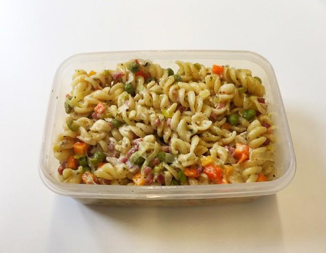 Sour cream bacon pasta - Leftovers / Schmand-Schinken-Nudeln - Resteverbrauch