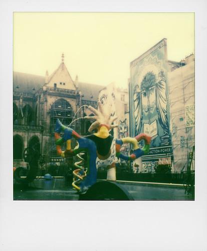 Jef Aerosol, Shepard Fairey, Niki de Saint-Phalle, Place Stravinsky, Paris
