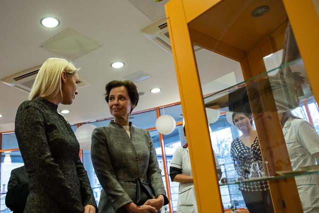 12.12.2019. Valsts prezidenta dzīvesbiedre Andra Levite apmeklē Bērnu Klīniskās universitātes slimnīcu