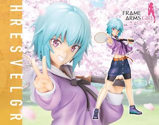 壽屋《Frame Arms Girl 骨裝機娘》魔鷲 ~DATE DE SESSION!!~(フレズヴェルク ~デート DE SESSION!!~)PVC塗裝完成品