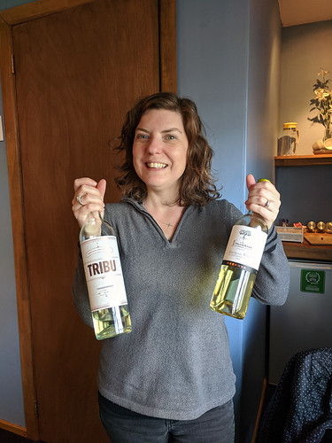 found a bottle of wine in our fridge - bonus!