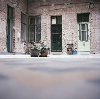 Budapest backyard