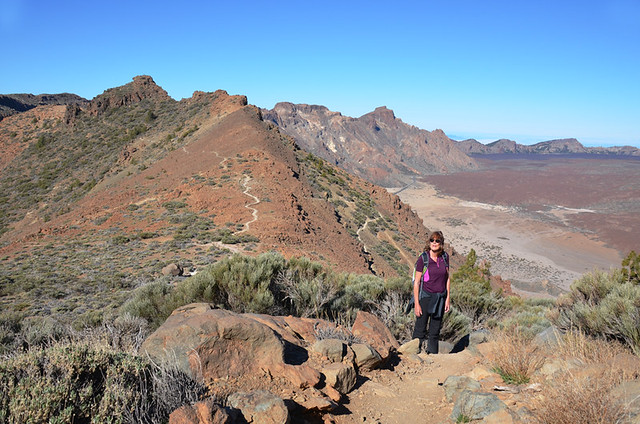 Walking in Teide National Park, Tenerife, Canary Islands