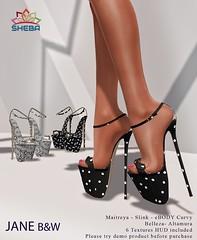 [Sheba] Jane B&W Heels