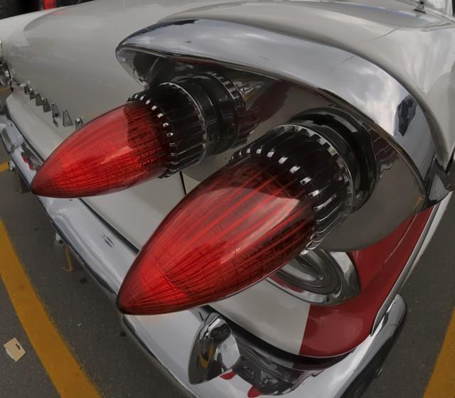 1958 Pontiac tail light, Toronto Queensway.