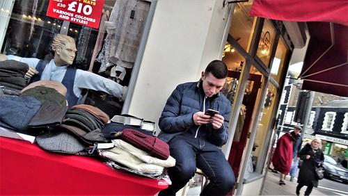 Texting Inbetween Customers.