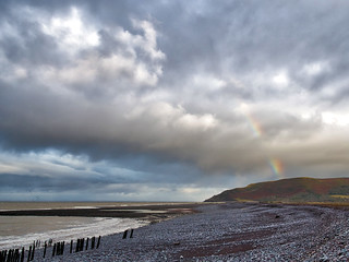 Porlock Weir beach clouds