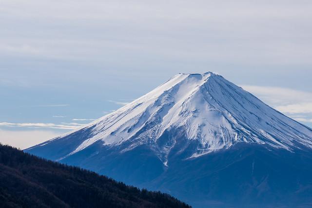 富士山をクローズアップ@本社ヶ丸