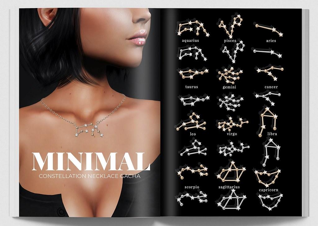 MINIMAL – Constellation Necklaces Gacha