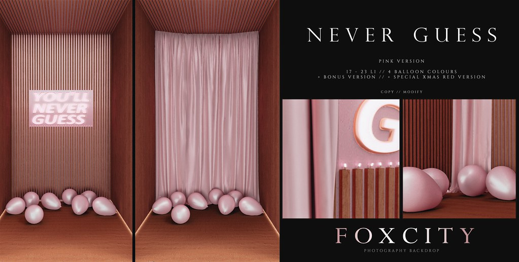FOXCITY. Photo Booth – Never Guess (Pink)