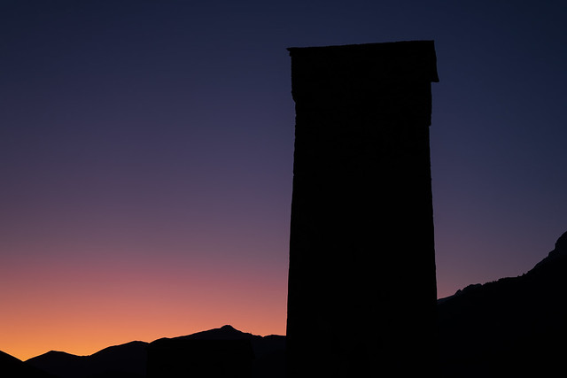 Svan Towers at Sunset