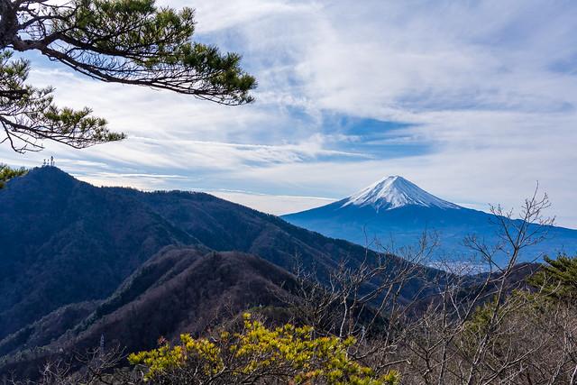 三ッ峠山と富士山@清八山