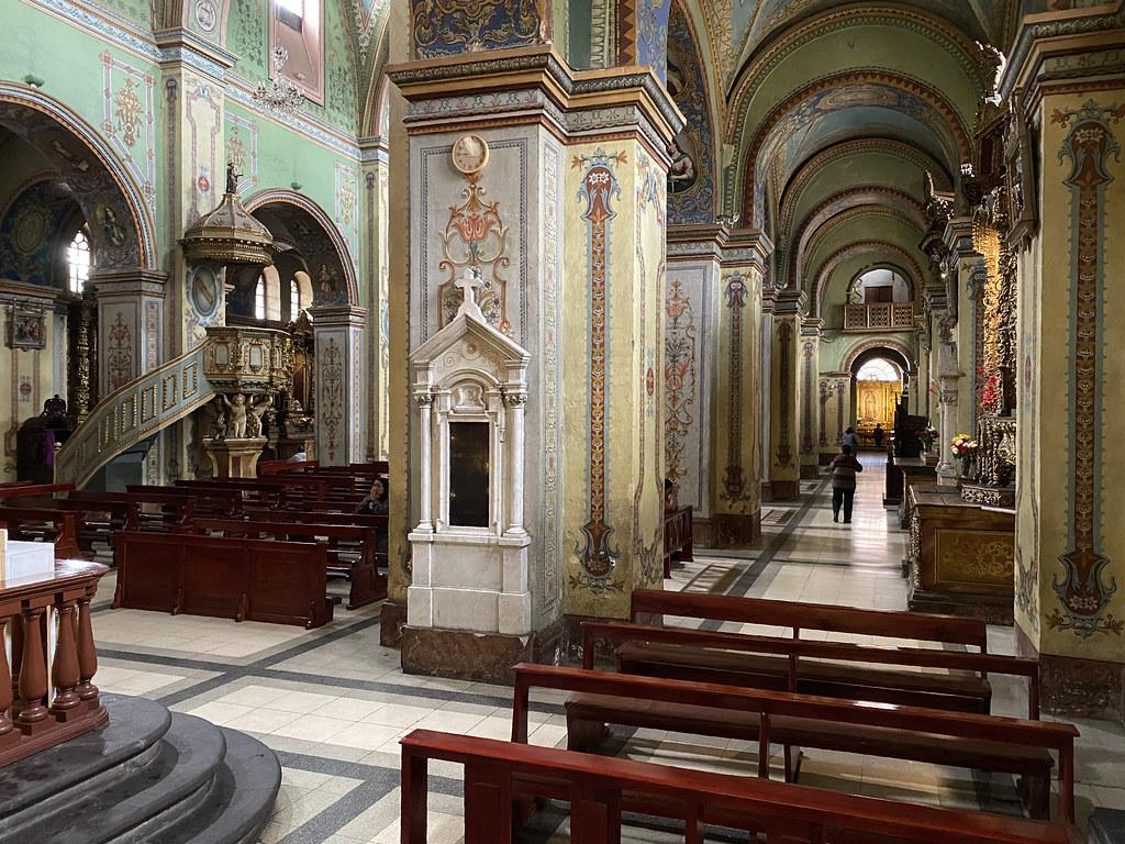 Iglesia y Convento de San Agustín, Quito´s Historic Center at an elevation of 2,850 metres (9,350 ft) above sea level, Ecuador