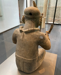 Anthropomorphic Figurine, Culture Jama-Coaque (350 B.C. - 1530 AD), the Casa del Alabado Museum of Pre-Columbian Art, Quito´s Historic Center at an elevation of 2,850 metres (9,350 ft) above sea level, Ecuador.