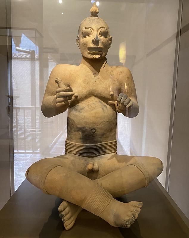 Culture Jama-Coaque (350 a.C. - 1530 d.C.), the Casa del Alabado Museum of Pre-Columbian Art, Quito´s Historic Center at an elevation of 2,850 metres (9,350 ft) above sea level, Ecuador.