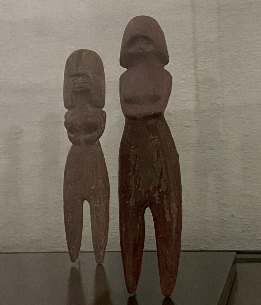 The Venus of Valdivia, Culture Valdivia (4000 b.C. - 1500 b.C.), the Casa del Alabado Museum of Pre-Columbian Art, Quito´s Historic Center at an elevation of 2,850 metres (9,350 ft) above sea level, Ecuador.