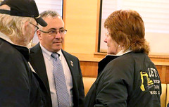 "State Rep. Vincent Candelora participated in a ""business coffee hour"" in East Haven that was put with assistance from the East Haven Chamber of Commerce."
