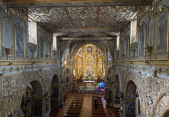 Central Nave from the Choir of el Francisco at an elevation of 2,818 meters (9,245 ft) above sea level, Ecuador.
