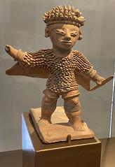 Anthromorphic Figurine, Culture Jama-Coaque (500 a.C. - 1530 d.C.), the Casa del Alabado Museum of Pre-Columbian Art, Quito´s Historic Center at an elevation of 2,850 metres (9,350 ft) above sea level, Ecuador.