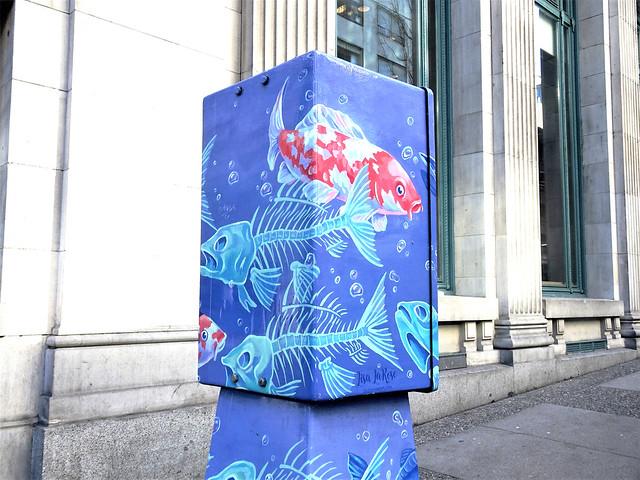 Blue Fish Cube