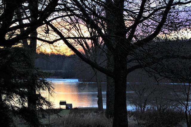 Frozen Lake at Dusk