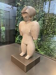 Anthropomorphic Figurine, Culture Chorrera (950 B.C. - 350 B.C.), the Casa del Alabado Museum of Pre-Columbian Art, Quito´s Historic Center at an elevation of 2,850 metres (9,350 ft) above sea level, Ecuador.
