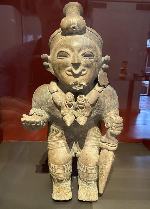 Culture Jama-Coaque (500 B.C. - 1530 C.E.), the Casa del Alabado Museum of Pre-Columbian Art, Quito´s Historic Center at an elevation of 2,850 metres (9,350 ft) above sea level, Ecuador.