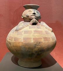 Globular Vessel, Culture Cosanga o Panzaleo (500 B.C. - 1500 AD), the Casa del Alabado Museum of Pre-Columbian Art, Quito´s Historic Center at an elevation of 2,850 metres (9,350 ft) above sea level, Ecuador.