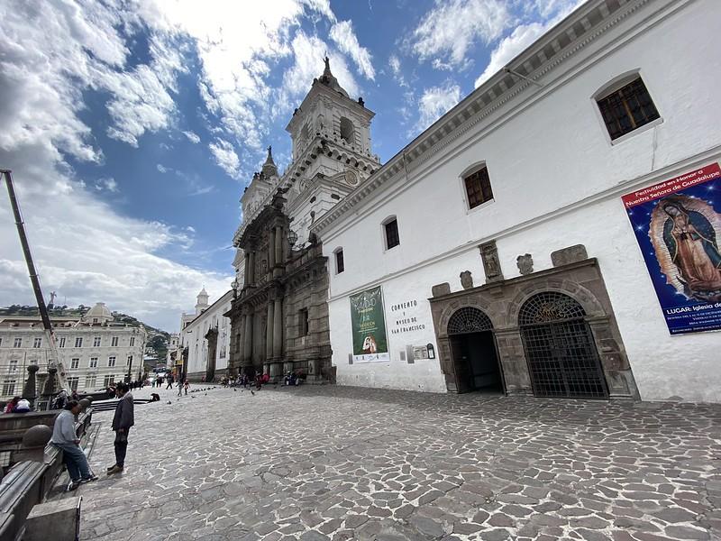 Iglesia y Convento de San Francisco, Plaza San Francisco, Old Town, Quito, Ecuador.