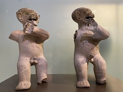 Anthropozoomorphic Figures, Culture La Tolita (350 a.C. - 350 d.C.), the Casa del Alabado Museum of Pre-Columbian Art, Quito´s Historic Center at an elevation of 2,850 metres (9,350 ft) above sea level, Ecuador.