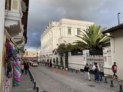 The Hotel Casa Gangotena (El Palacio Gangotena), Quito´s Historic Center at an elevation of 2,850 metres (9,350 ft) above sea level, Ecuador.