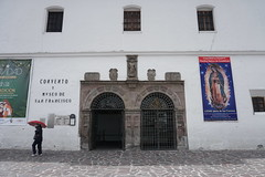 The  Convent and Museum of San Francis at an elevation of 2,818 meters (9,245 ft) above sea level, Quito´s Historic Center, Ecuador.