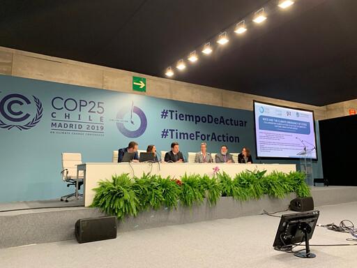 COP25一場周邊會議上,提到跨階層的合作能夠如何進行(圖:李翊僑)
