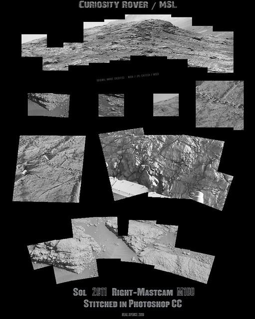 MSL Curiosity Rover -  Sol  2611  Right Mastcam Composite [M100]