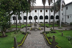 Museo Fray Pedro Gosseal (Museo Franciscano - the Second Cloister) at an elevation of 2,818 meters (9,245 ft) above sea level, Ecuador.