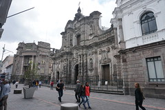 The Church of the Society of Jesus (la Iglesia de la Compañía de Jesús) at an elevation of 2,818 meters (9,245 ft) above sea level, Quito´s Historic Center, Ecuador.